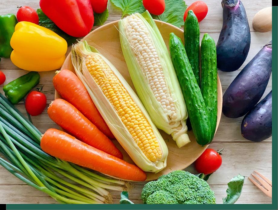 米沢牛の堆肥:野菜